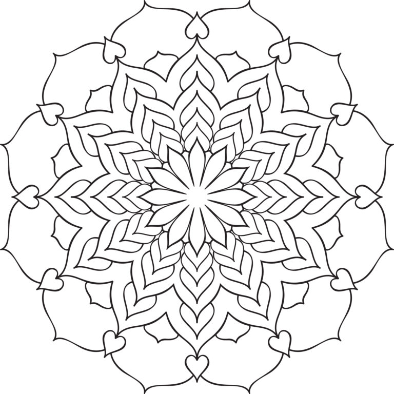 Beautiful Mandala No. 2 Printable Coloring Page