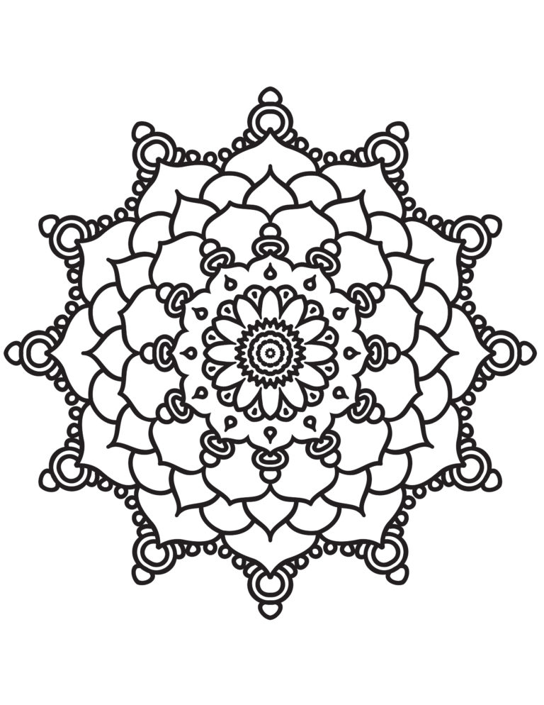 Mandala 3 - Printable Coloring Pages